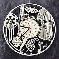 Деревянные часы ручной работы «Звездные Войны», фото 1