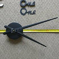 """Часы настенные зеркальные черные диаметр от 80см до 1метр20см """"слова и арабские цифры 3D часы большие"""", фото 3"""
