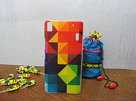 Пластиковый бампер чехол с рисунком для Lenovo A7000 K3 Note Пирамида