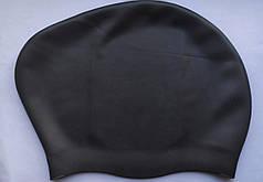 Силиконовая шапочка для длинных волос для бассейна и плавания Черный