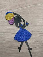 Топпера принцесса цветная.Синий