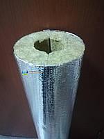 Циліндр теплоізоляційний, 80 кг/м3, фольгир.,товщина 50 мм, діаметр 45 мм, фото 1