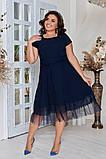 Женское красивое летнее льняное платье с декором (3расцв) 50-56р., фото 3