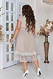 Женское красивое летнее льняное платье с декором (3расцв) 50-56р., фото 5