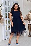 Женское красивое летнее льняное платье с декором (3расцв) 50-56р., фото 6