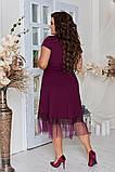 Женское красивое летнее льняное платье с декором (3расцв) 50-56р., фото 7