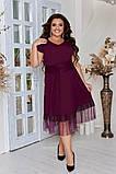 Женское красивое летнее льняное платье с декором (3расцв) 50-56р., фото 4
