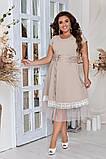 Женское красивое летнее льняное платье с декором (3расцв) 50-56р., фото 8