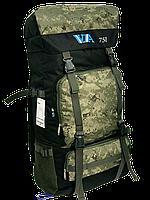 Рюкзак рыбацкий VA 75л T-07-9 75 л, VA, рыбалка, карповая сумка, Рюкзак карповый Милитари