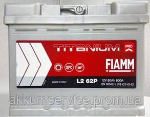 Аккумулятор автомобильный Fiamm Titanium Pro 60AH L+ 600А (L2 62P)