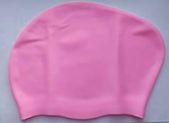 Женская шапочка на длинные волосы для бассейна и плавания Розовый