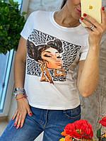 Белая с модным рисунком  Fendi (копия)