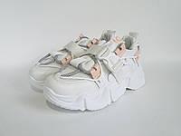 Cтильные белые кроссовки Loretta, полнота регулируеться, эко кожа высшего качества.