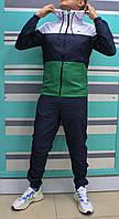Мужской весенний спортивный костюм Lacoste плащевка c капюшоном (Реплика)