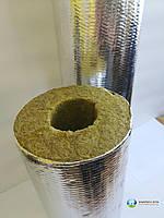 Базальтовый цилиндр для изоляции труб фольгированный  d=89*50 мм