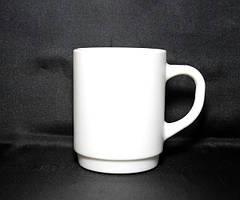 Кружка біла склокерамічна циліндрична для декорування Luminarc 250 мл (P9351)
