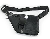 Сумка через плечо, кроссбоди , crossbody, сумка слинг, Черная. Это качественная, кросс боди сумка , Рюкзаки и сумки