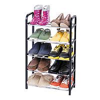 Полочка Artmoon Labrador 5-ярусная подставка для обуви - 10 пар - этажерка из стали и пластика 42x19x79,5 см
