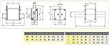 Предохранитель ETI M00CUQU-N gR 25A 690V 50kA 4331022 ножевой сверхбыстрый (NH-00C), фото 2