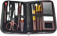 🔝 Набор для маникюра, цвет - черный, инструменты для маникюра, маникюрный набор , Косметика и аксессуары для педикюра