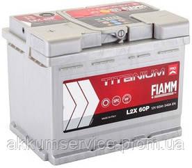 Аккумулятор автомобильный Fiamm Titanium Pro 60AH L+ 540А (L2X 60P)