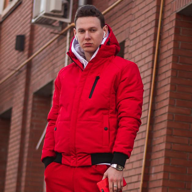 Куртка демисезонная мужская Omar красная