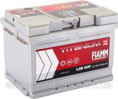 Аккумулятор автомобильный Fiamm Titanium Pro 60AH L+ 600А (L2B 60P)