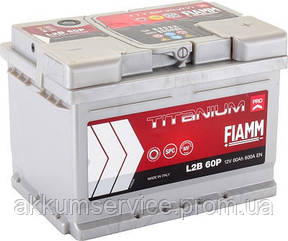 Аккумулятор автомобильный Fiamm Titanium Pro 60AH R+ 600А (L2B 60P)