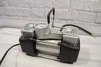 Портативный авто - компрессор  2-х цилиндровый, воздушный, фото 2