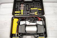 Портативный авто - компрессор  2-х цилиндровый, воздушный, фото 8