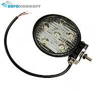Фара рабочая LED 18W/30° (6x3W, 1260 lm, узкий луч 30°) 6 ламп
