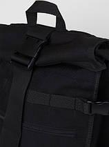 Рюкзак роллтоп черный ТУР модель Akuma, фото 3