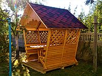 Беседка House 2х2 ПОД КЛЮЧ от производителя, беседка для сада, беседка для дачи, деревянная беседка