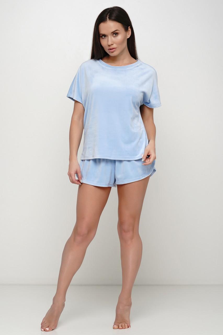 Небесно голубая пижама шорты и футболка TM Orli