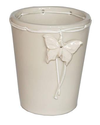Кашпо, вазон, горшок для растений, декор для дома, Белый (00241)