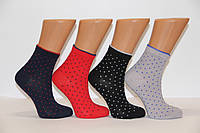 Женские носки средние компютерные MONTEBELLO в точечки