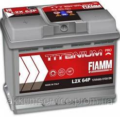 Аккумулятор автомобильный Fiamm Titanium Pro 64AH L+ 610А (L2X 64P)