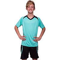 Футбольная форма подростковая Perfect, PL, р-р 24-30, рост 120-150см., голубой (CO-2016B-(lbl))