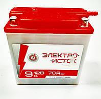 Аккумулятор 12V 9Аh 6мтс9 135/70/140мм (кислотный) Электроисток
