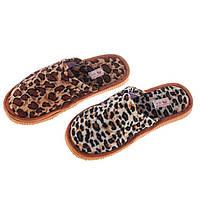 Женские леопардовые домашние тапочки