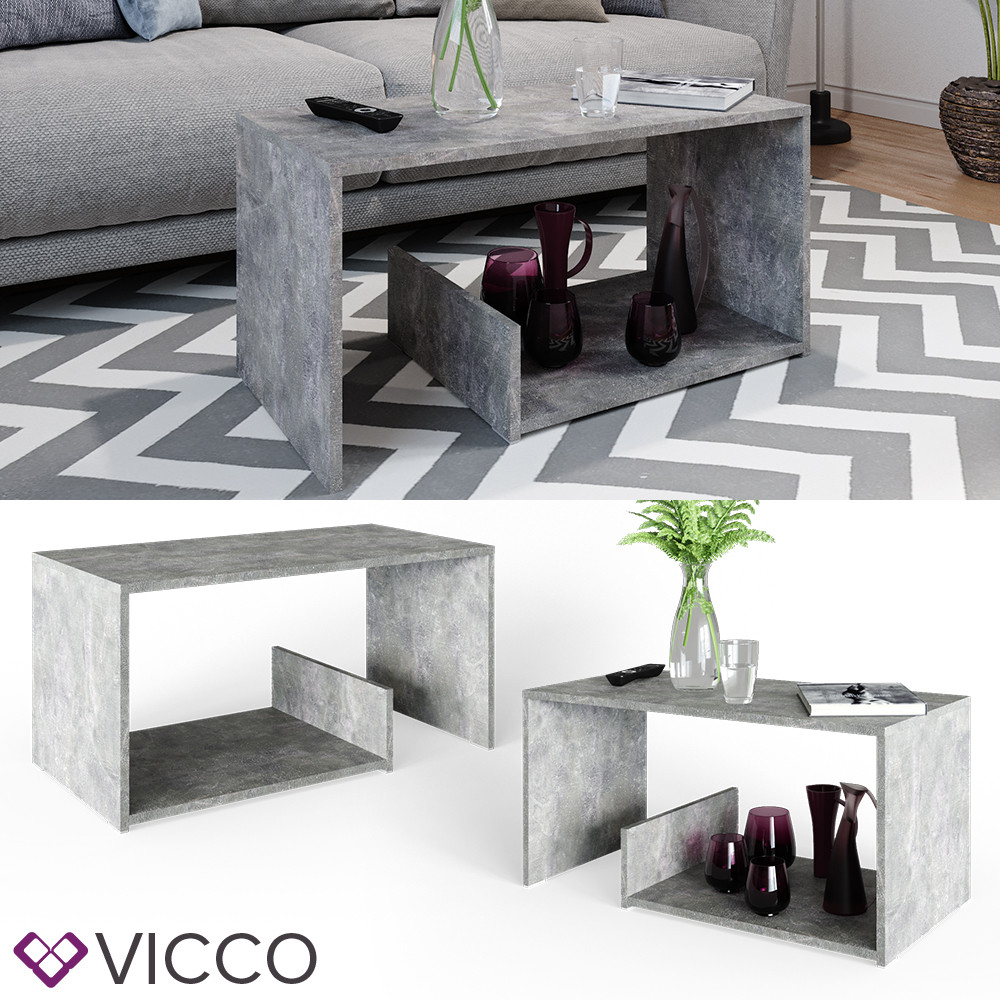 Vicco журнальный столик Tyrion 80x40, цвет бетон