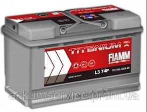 Аккумулятор автомобильный Fiamm Titanium Pro 74AH L+ 680А (L3 74P)