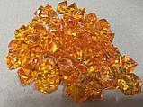 Кристаллы камни декоративные осколки 1,5х1,5 см оранжевый, фото 2