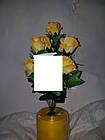 Букет роз на 7 голов NY-125 (14 шт./уп.) Искусственные цветы оптом, фото 7