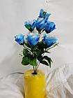 Букет роз на 7 голов NY-125 (14 шт./уп.) Искусственные цветы оптом, фото 6
