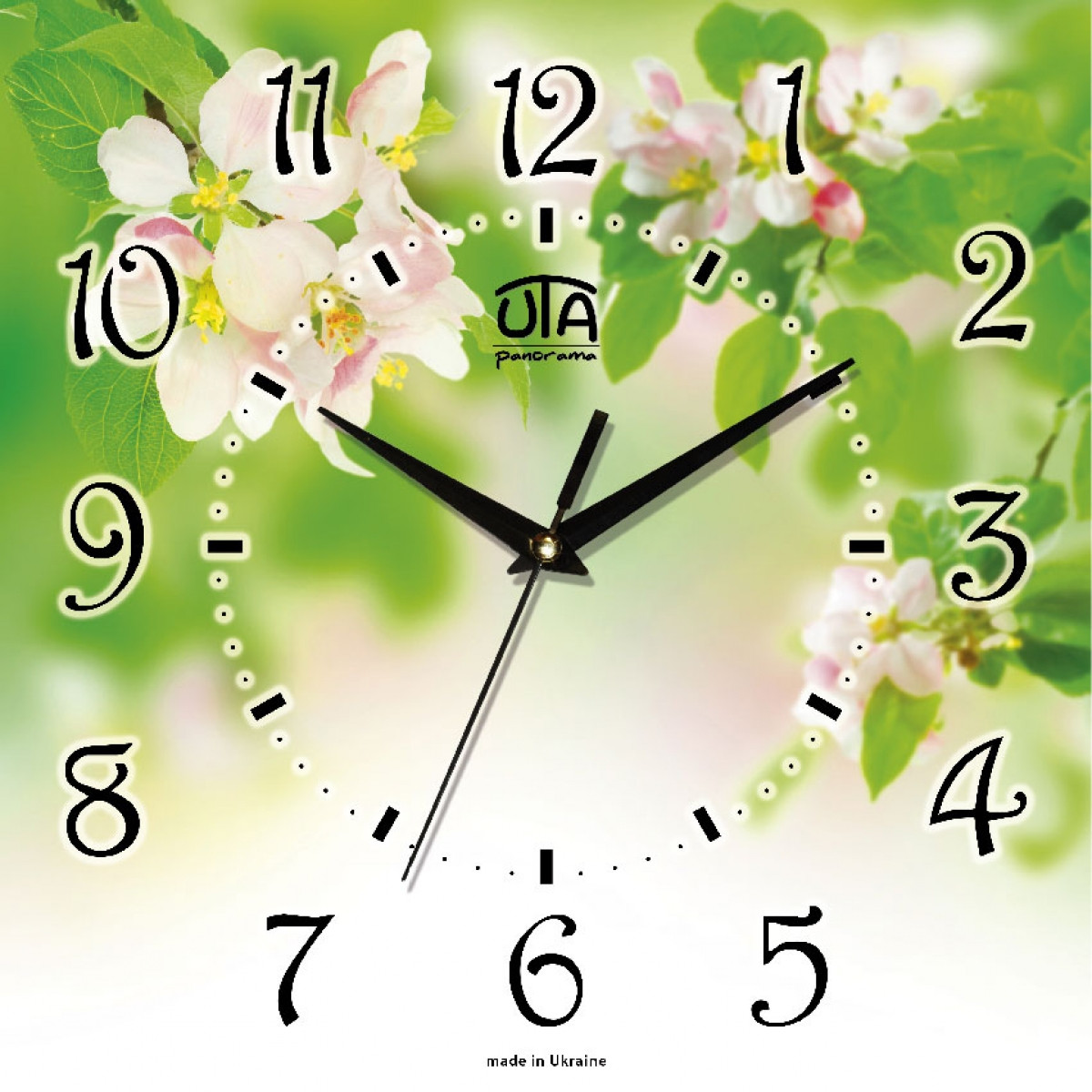 Часы настенные UTA Panorama 300 х 300 х 16 мм Флора