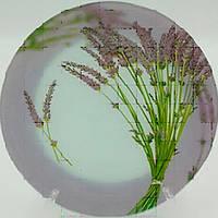 Тарелка стекло 200мм круглая мелкая Прованс /уп. 6шт