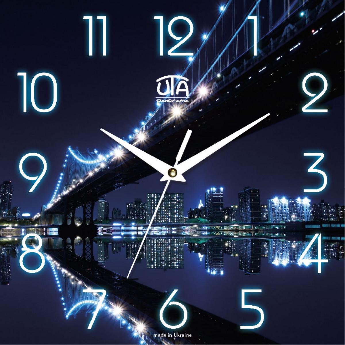 Часы настенные UTA Panorama 300 х 300 х 16 мм Город