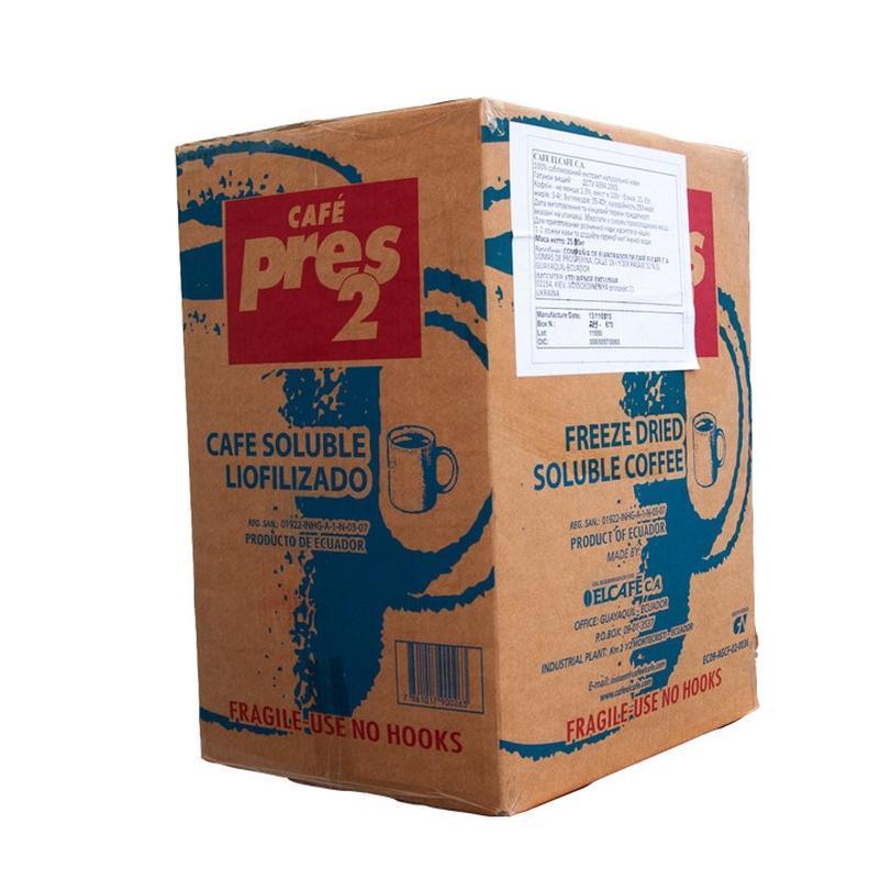 Розчинна кава Прес2, (сублімований PRES2), Еквадор, 25 кг/ящ.