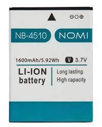 Аккумулятор АКБ Nomi i4510 Beat | NB-4510 | NB4510 (Li-ion 3.7V 1600mAh) Оригинал Китай